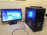 """Gaming PC AMD-FX8350 8core with 22"""" LG LED monitor"""