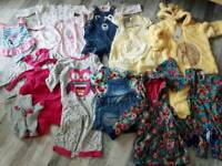 Bundle of beautiful baby girl clothes (size:9-18months)