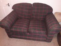 Red Tartan Two Seater Sofa