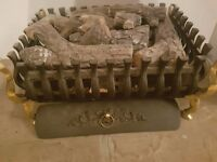 2 x Cast Iron Fire trays - For gas use or decorative