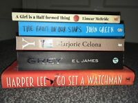 Five varied titles, including go set a watchman (never opened )