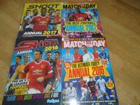 4 x Football Annuals