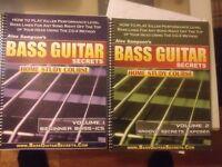 Bass guitar music book. 'Bass guitar secrets study guide'