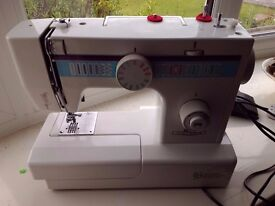 Victoria electric sewing machine With foot pedal, working