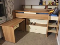 Mid height single cabin bed