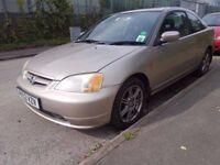 2003 HONDA CIVIC 1.7 VTECH COUPE..LONG MOT..CLEAN CAR