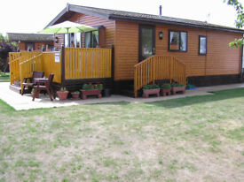 Two bedroom lakeside lodge on a five star park, situated on the Lincolnshire coast