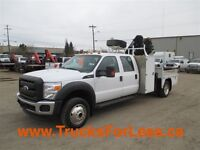 2011 Ford F-550 XL 4X4, PICKER & SERVICE DECK!!!