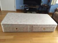 2 single Relyon divan bed bases with drawers