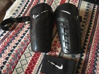 Nike chin pads size 170-180cm with captain arm band for boys used good condition £5