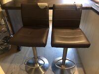 Brown gas lift bar stools
