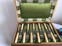 Antique fish knives and forks