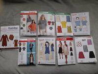 Dress making patterns (all uncut) sewing patterns