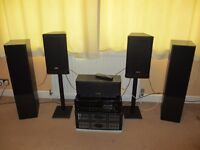 Tannoy surround soundspeakers (M3x2, MC and 632x2) and Yamaha Receiver (RX-V592RDS)