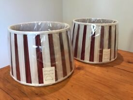 Laura Ashley lampshades set of 2 as new