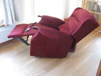 Immaculate Quality Reclining HSL Armchair In Burgundy