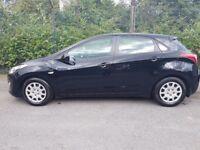 Black Car Hyndai i30