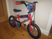 Boy's Spiderman Bike - 14 inch wheels