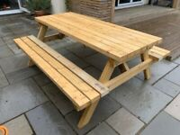Large heavy duty garden bench