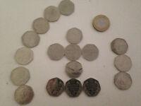 Rare and Collectible 50p pieces and a £2 coin