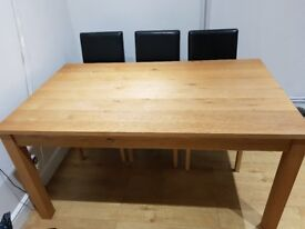 Six Seater Oak Dining Table