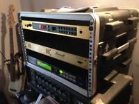 Marshall jmp 1 valve amp. 8004 power amp + midiverb4 effects in rack ,swop line 6 jam +ftswitch