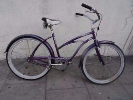 Ladies Beach Cruiser Bike by Electra, Silver & Purple, All Original!!, JUST SERVICED/ CHEAP PRICE!!!