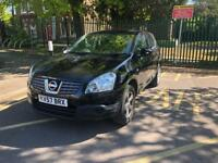 NISSAN QASHQAI 2.0 AUTOMATIC ACENTA 5DR 2007 (57) BLACK WITH LOW MILE 73K WITH MOT HISTROY