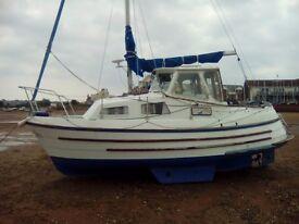 21 Ft motorsailer bilge keel, lying River Exe, NEAR OFFERS CONSIDERED.