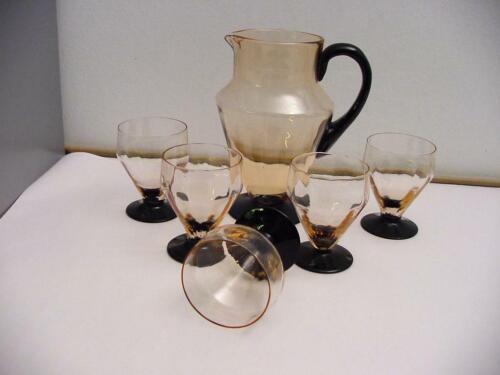art deco jug and glasses