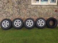 """16"""" Land Rover Alloy Wheels With General Grabber Tyres. 235/70/16.Discovery/Td5"""