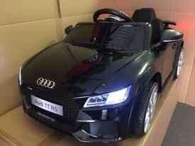 UDI TT RS, BLACK, OFFICIALLY LICENSED KIDS 12v RIDE IN CAR with REMOTE CONTROL, BRAND NEW!!!!!