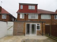 Five bedrooms, semi-detached family home, with En suit shower rooms with a modern kitchen
