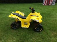 Kids yellow Electric Tonka Quad for sale