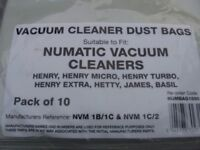 NUMATIC VACUUM BAGS for Henry