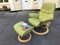 Immaculate condition ekornes Stressless armchair new module signature base possible delivery