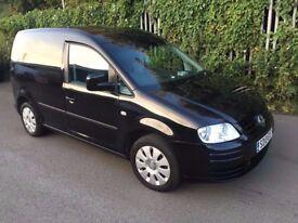 vw caddy 1.9 tdi c20 black panel van no vat good condition