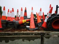 For sale traffic cones and barriers
