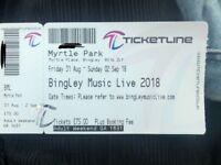 Bingley Music Live Weekend Ticket