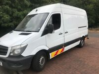 Mercedes sprinter 2013 (face lift) 63 313 cdi mwb 1 owner mbsh