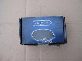 VETECH 642VG0807 Brake Pad Set Braking System Kit Vetech