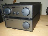 Naim NAC 62 pre amp and NAP 140 power amp.