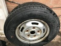 Transit van spare wheel with never been used tyre - 5 stud