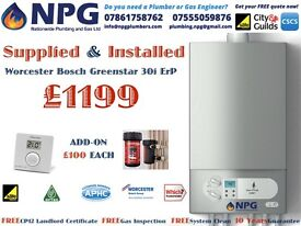 Worcester Bosch Greenstar 30i ErP Rated Combi - SUPPLIED & FITTED - 2017 SPECIAL OFFER FROM £1199