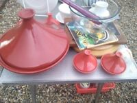 Unused unmarked Tagine plus 4 serving dishes