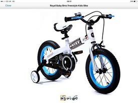 "2 x kids bikes 14"" 3-6yrs BRAND NEW"