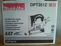 new makita 18v lxt pin nailer dpt351z - made in japan. dpt351 bare tool