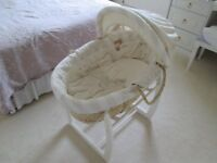 Moses basket with rocking carry cot stand