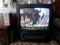 2 x Portable TV/Video with box of videos