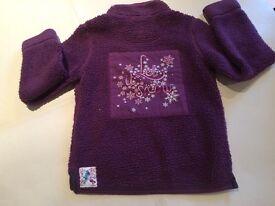 Girls 'Fat Face' Purple Fleece - Age 8-9 years